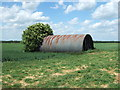 TL3286 : Small Nissen hut, Ramsey Hollow Drove by Richard Humphrey
