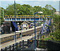 SK3578 : Dronfield station and footbridge by Andrew Hill
