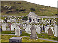 SH7683 : St Tudno's Cemetery and Chapel by David Dixon