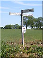 TG0327 : Dukehouse Bridge junction roadsign by Adrian Cable