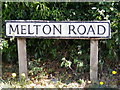 TG0329 : Melton Road sign by Adrian Cable
