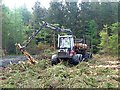 M1274 : Forest forwarder near Cloonee by Oliver Dixon