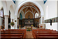 TQ2480 : St Francis of Assisi, Pottery Lane, Notting Hill - East end by John Salmon