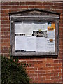 TG0321 : Foxley Village Notice Board by Adrian Cable