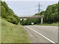 Dist:0.7km<br/>Bridge carrying Bryn-y-Baal Road over the A494, just to the west of Mynydd Isa.