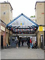 TQ3877 : Greenwich Market Entrance by Roy Hughes