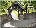 SJ9286 : Norbury Parish Church Lychgate by Gerald England