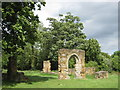 SK2504 : Ruins of Alvecote Priory by Michael Westley