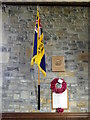 NZ2011 : British Legion Flag, St Paul's Church by Miss Steel
