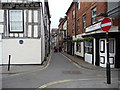 SO5174 : The western end of Market Street, Ludlow on a Sunday by Jeremy Bolwell