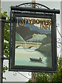 SK2086 : The sign for the Ladybower Inn by Ian S