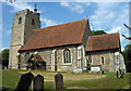 TL8240 : St Mary's church, Belchamp Walter, Essex by Peter Stack