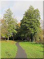 TQ4465 : Footpath by the Kyd Brook - East Branch, north of Crofton Road (A232), BR6 by Mike Quinn