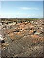 SD4253 : Sandstone rocks near Cockersand Abbey : Week 22
