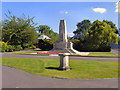 SJ9295 : Denton Millennium Sundial and War Memorial, Victoria Park by David Dixon
