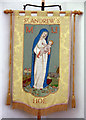 TF9916 : St Andrew, Hoe - Banner by John Salmon