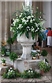TG0117 : All Saints, Swanton Morley - Font by John Salmon