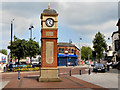SJ9499 : Market Street Clock by David Dixon