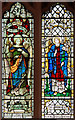 TQ5586 : St Laurence, Upminster - Stained glass window by John Salmon