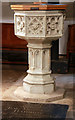 TQ5586 : St Laurence, Upminster - Font by John Salmon