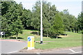 SK2003 : Traffic Island, next to Bonehill Road  (1) by Chris' Buet