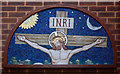 TQ3377 : St George, Coleman Road, Camberwell - Reredos remnant by John Salmon
