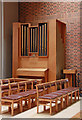 TQ3377 : St George, Coleman Road, Camberwell - Organ &amp; font by John Salmon
