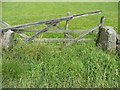 SD9730 : Gate at Lady Royd Farm, Wadsworth by Humphrey Bolton