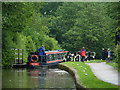 SJ8839 : Entering Trentham Lock near Barlaston, Staffordshire by Roger  Kidd