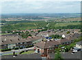 SK4771 : Overlooking Bolsover from Hilltop Road by Andrew Hill