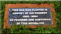 J4581 : Ian Kennedy plaque, Helen's Bay by Albert Bridge