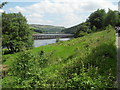 SK1788 : View from Fairholmes to Aqueduct across Ladybower Reservoir by marplerambler
