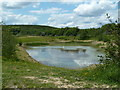 SK4762 : Pond in Silverhill Country Park by Andrew Hill