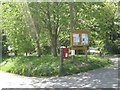 SP2066 : Postbox and parish noticeboard, Pinley Green by Robin Stott