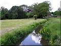 SU1057 : Stream at Cuttenham Farm by Miss Steel