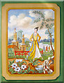 SP6837 : Painted canvas panel on the Chinese House by Trevor Rickard