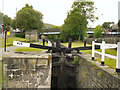 SE0411 : Huddersfield Narrow Canal, Lock 42E at Marsden Station by David Dixon
