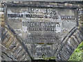 NZ4113 : Inscription on Yarm Viaduct by Pauline Eccles