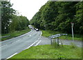 SK3467 : A632 Matlock Road junction at Slatepit Dale by Andrew Hill