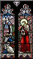 TL1589 : St Mary, Stilton - Stained glass window by John Salmon
