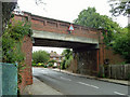 TQ3966 : Railway bridge over Tiepigs Lane by Robin Webster