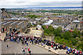 NT2573 : Firing the One o'clock Gun, Edinburgh Castle by Alan Findlay