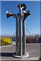 SD4263 : Steel trumpets, West End Gardens, Morecambe by Ian Taylor