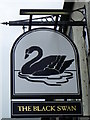 NZ1320 : Sign for the Black Swan by Miss Steel