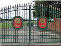 SJ5997 : Haydock Park gates by Tim Evans