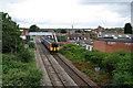 SK5441 : Train approaching Bobbers Mill Bridge by John Sutton