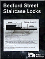 SJ8746 : Staircase Locks Instruction board, at Etruria, Stoke-on-Trent by Roger  Kidd