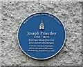 Photo of Joseph Priestley blue plaque