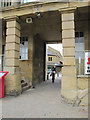 SE0925 : The north entrance to The Piece Hall and two bench marks by John S Turner