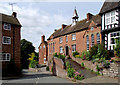 SO7993 : Pound Street and the old school in Claverley, Shropshire by Roger  Kidd
